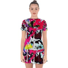 Buffulo Vision 1/1 Drop Hem Mini Chiffon Dress