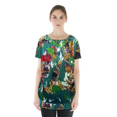 Oasis Skirt Hem Sports Top by bestdesignintheworld