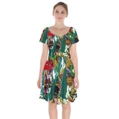 Oasis Short Sleeve Bardot Dress by bestdesignintheworld