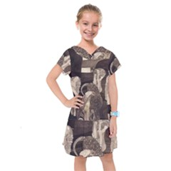 Jurisprudence   Gustav Klimt Kids  Drop Waist Dress by Valentinaart