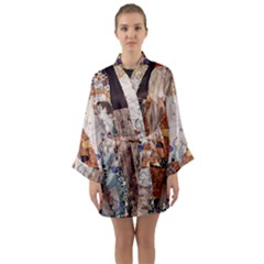 The Three Ages Of Woman  Gustav Klimt Long Sleeve Kimono Robe by Valentinaart