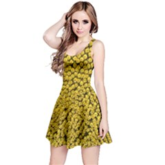 Sunflower Head (helianthus Annuus) Hungary Felsotold Reversible Sleeveless Dress