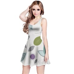 Leaves Flowers Abstract Reversible Sleeveless Dress