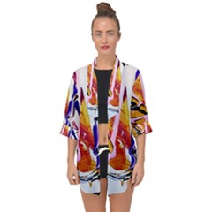Immediate Attraction 6 Open Front Chiffon Kimono