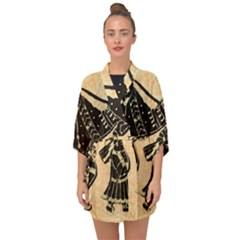 Antique Apparel Art Half Sleeve Chiffon Kimono by Modern2018