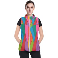 Abstract Background Colrful Women s Puffer Vest by Modern2018