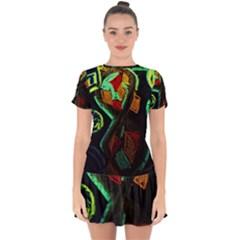 Girls Curiosity 12 Drop Hem Mini Chiffon Dress by bestdesignintheworld