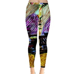 House Will Be Built 6 Inside Out Leggings by bestdesignintheworld