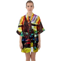 House Will Be Built 2 Quarter Sleeve Kimono Robe by bestdesignintheworld