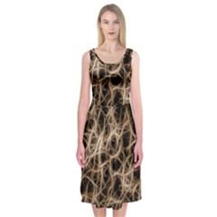 Structure Background Pattern Midi Sleeveless Dress