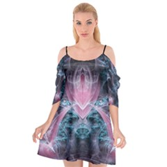 Ghost Gear   Quantum Sapphire   Cutout Spaghetti Strap Chiffon Dress by GhostGear