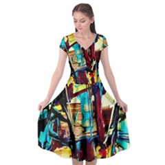 Dance Of Oil Towers 4 Cap Sleeve Wrap Front Dress by bestdesignintheworld