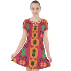 Tribal Shapes In Retro Colors                              Caught In A Web Dress