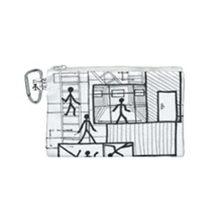 Drawing Canvas Cosmetic Bag (small) by ValentinaDesign