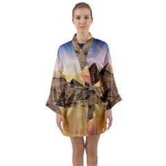 Ancient Archeology Architecture Long Sleeve Kimono Robe by Modern2018