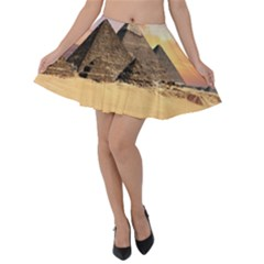 Ancient Archeology Architecture Velvet Skater Skirt by Modern2018