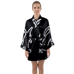Drawing Long Sleeve Kimono Robe by ValentinaDesign