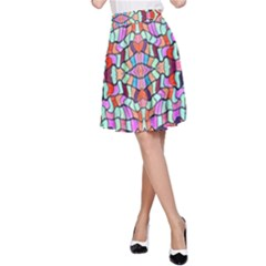 Artwork By Patrick Colorful 38 A Line Skirt by ArtworkByPatrick