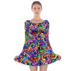Artwork By Patrick Colorful 39 Long Sleeve Skater Dress by ArtworkByPatrick