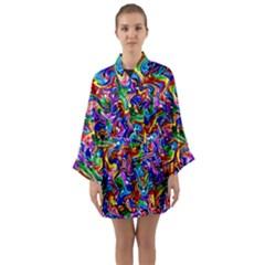 Artwork By Patrick Colorful 39 Long Sleeve Kimono Robe by ArtworkByPatrick