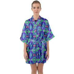 Artwork By Patrick-colorful-41 Quarter Sleeve Kimono Robe by ArtworkByPatrick