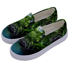 Backgrounds List Of Lake Background Beautiful Waterfalls Nature Kids  Canvas Slip Ons by Modern2018
