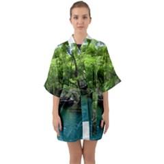 Backgrounds List Of Lake Background Beautiful Waterfalls Nature Quarter Sleeve Kimono Robe by Modern2018