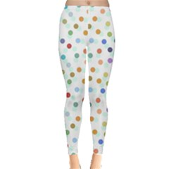 Dotted Pattern Background Brown Leggings  by Modern2018