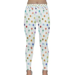Dotted Pattern Background Brown Classic Yoga Leggings by Modern2018