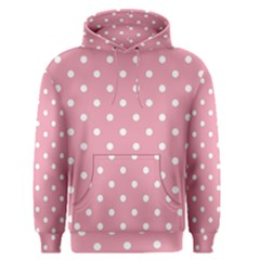 Pink Polka Dot Background Men s Pullover Hoodie