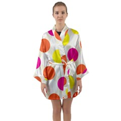 Polka Dots Background Colorful Long Sleeve Kimono Robe by Modern2018