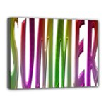 Summer Colorful Rainbow Typography Canvas 16  x 12