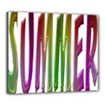 Summer Colorful Rainbow Typography Canvas 24  x 20