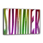 Summer Colorful Rainbow Typography Canvas 18  x 12