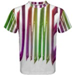 Summer Colorful Rainbow Typography Men s Cotton Tee