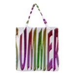 Summer Colorful Rainbow Typography Grocery Tote Bag