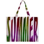 Summer Colorful Rainbow Typography Zipper Mini Tote Bag