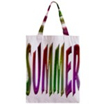 Summer Colorful Rainbow Typography Zipper Classic Tote Bag