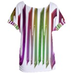 Summer Colorful Rainbow Typography Women s Oversized Tee