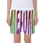 Summer Colorful Rainbow Typography Women s Basketball Shorts