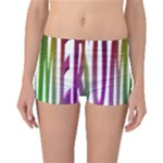 Summer Colorful Rainbow Typography Boyleg Bikini Bottoms