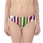 Summer Colorful Rainbow Typography Hipster Bikini Bottoms