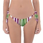 Summer Colorful Rainbow Typography Reversible Bikini Bottom