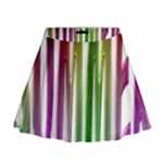 Summer Colorful Rainbow Typography Mini Flare Skirt
