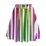 Summer Colorful Rainbow Typography High Waist Skirt