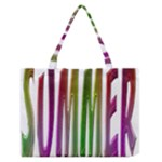 Summer Colorful Rainbow Typography Zipper Medium Tote Bag