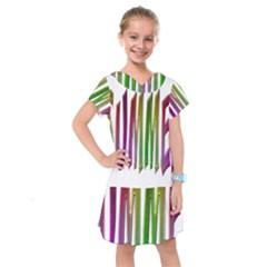 Summer Colorful Rainbow Typography Kids  Drop Waist Dress by yoursparklingshop