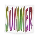 Summer Colorful Rainbow Typography Square Tapestry (Small)