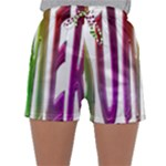 Summer Colorful Rainbow Typography Sleepwear Shorts