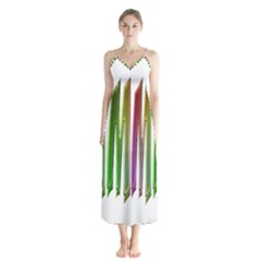 Summer Colorful Rainbow Typography Button Up Chiffon Maxi Dress by yoursparklingshop